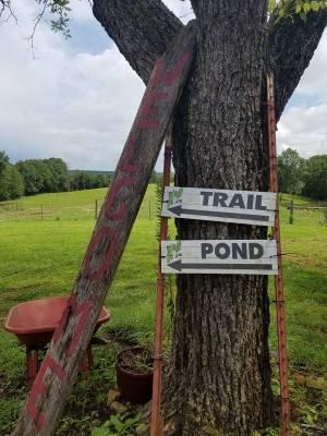 Little Eden Trail Pond Sign